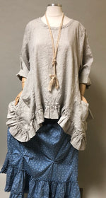Butterfly Top Long in Linen, USA
