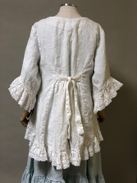 April Jacket Linen with Cluny Lace Trim