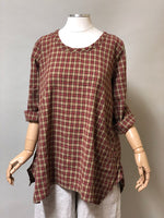 Side Pocket Simple Top Rustic Woven Cotton