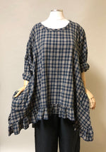 Boho flannel top