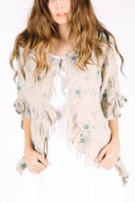 Kelly Jacket in Floral Linen, HD-012