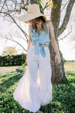 Wide leg linen pants from Heart's Desire Clothing Boutique Linen Clothing