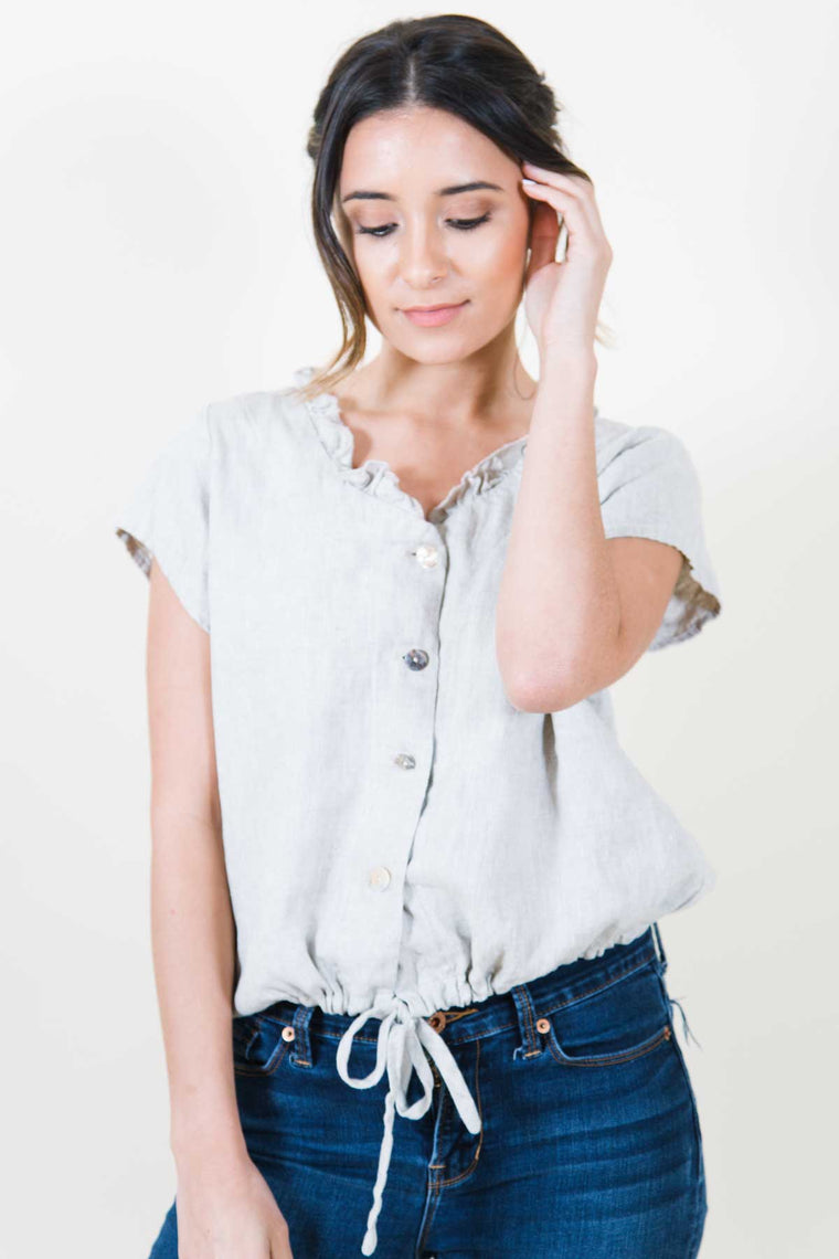 Chemise Top in Linen