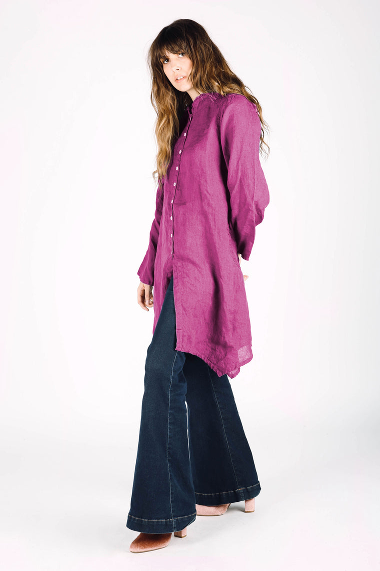 Dawn Tunic Rose Linen, HD-076 R