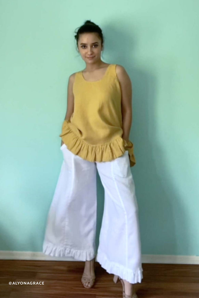 Garbo Pant in Linen, USA