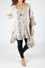 Hanna Dress in Floral Linen, HD-016