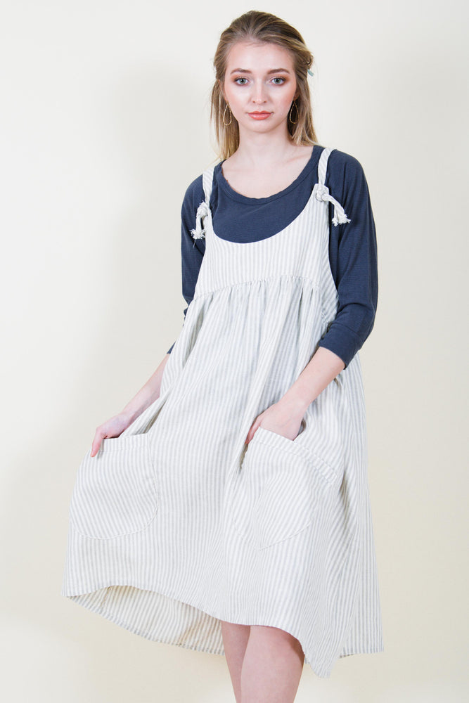 Arminda Pinafore in Linen