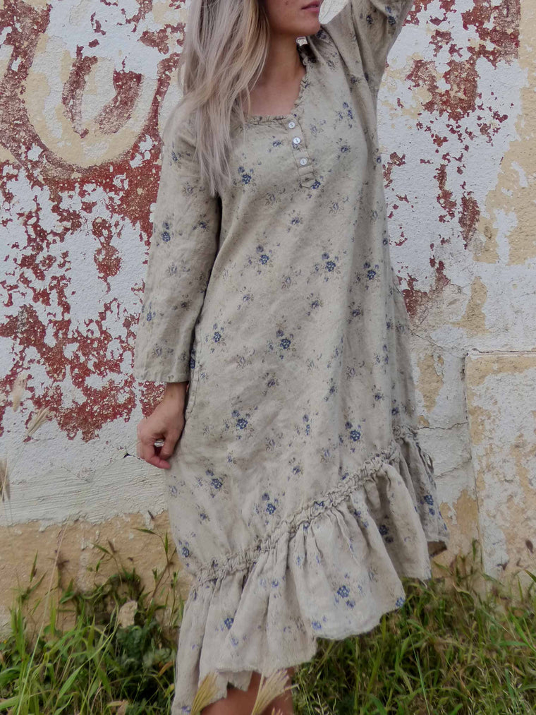 Rachel Dress in Linen, HD-068