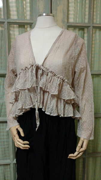 Ruffle Jacket Cotton Net