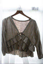 Ruffle Jacket in Linen, USA