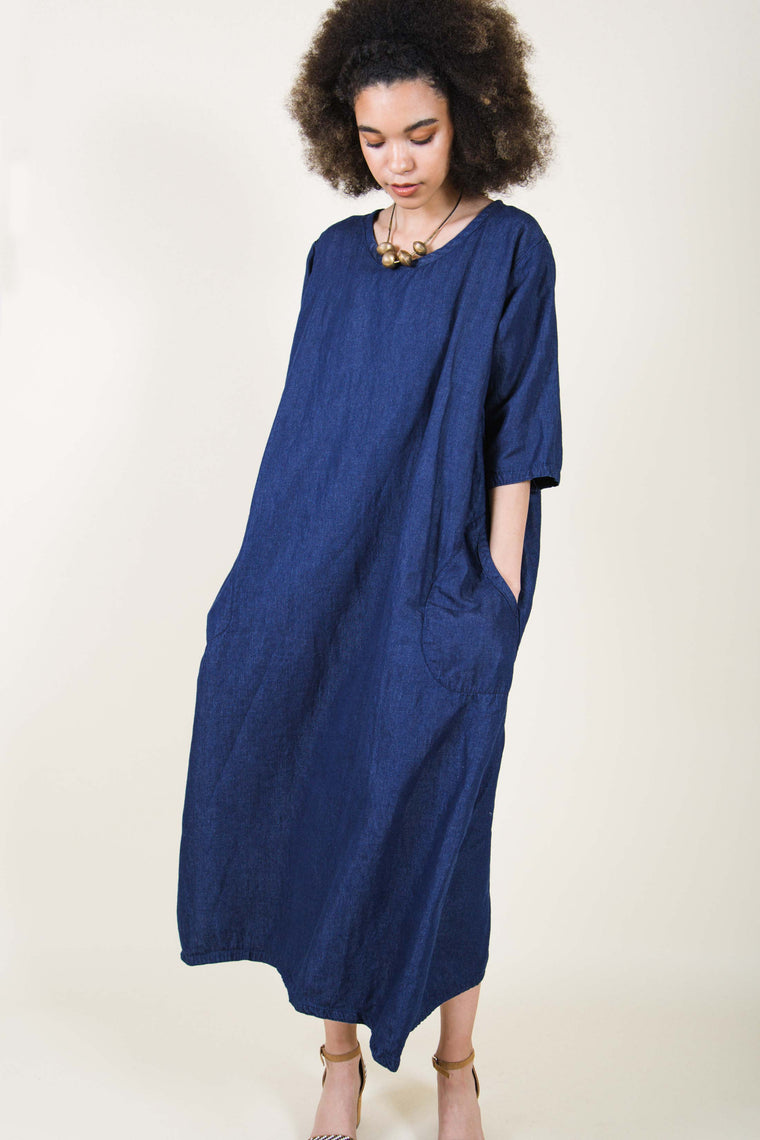 Simple Dress in Denim, USA