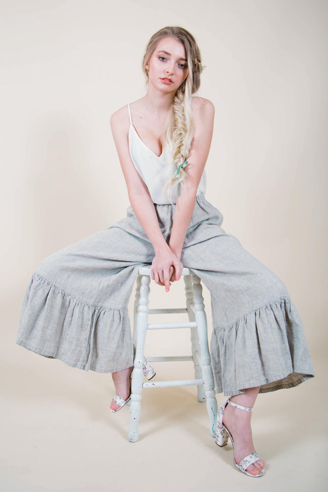 Wide Leg Linen Pants from Heart's Desire Clothing