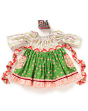 Peppermint Twist Peasant Dress