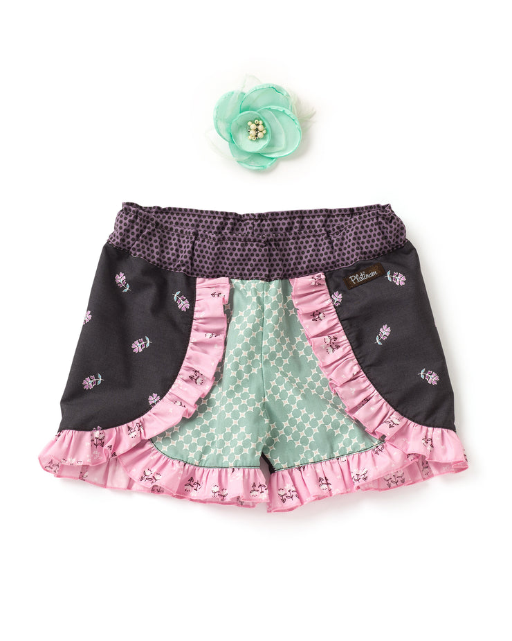 Sprinkled Petals Woven Shorties