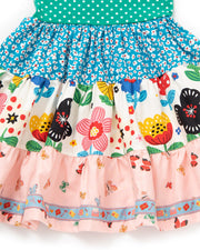 Betty Butterfly Tiered Tank Dress