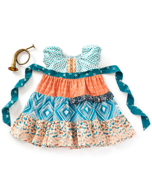 My Clementine Tiered Peasant Dress