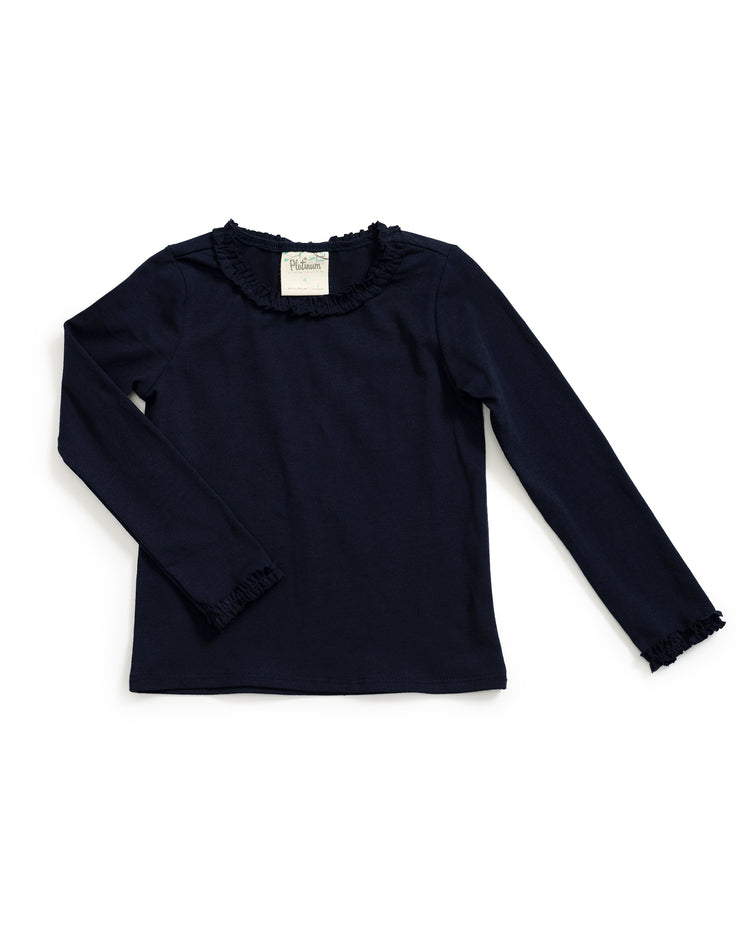 Navy Long Sleeve Tee