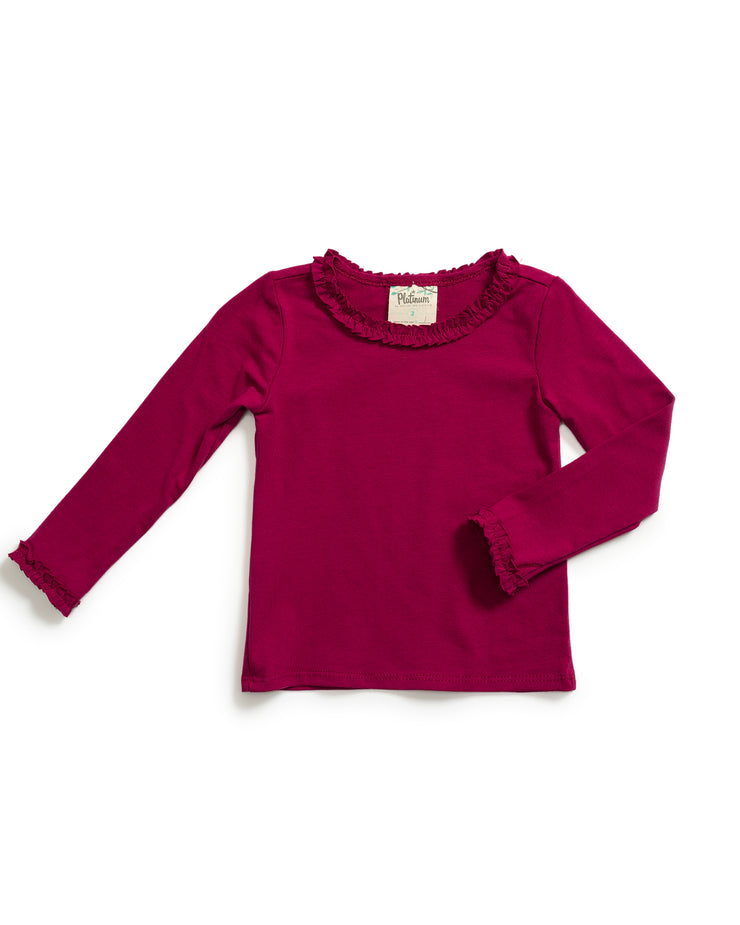 Magenta Long Sleeve Tee