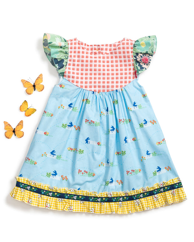 Bunny Blue Flutter Dress