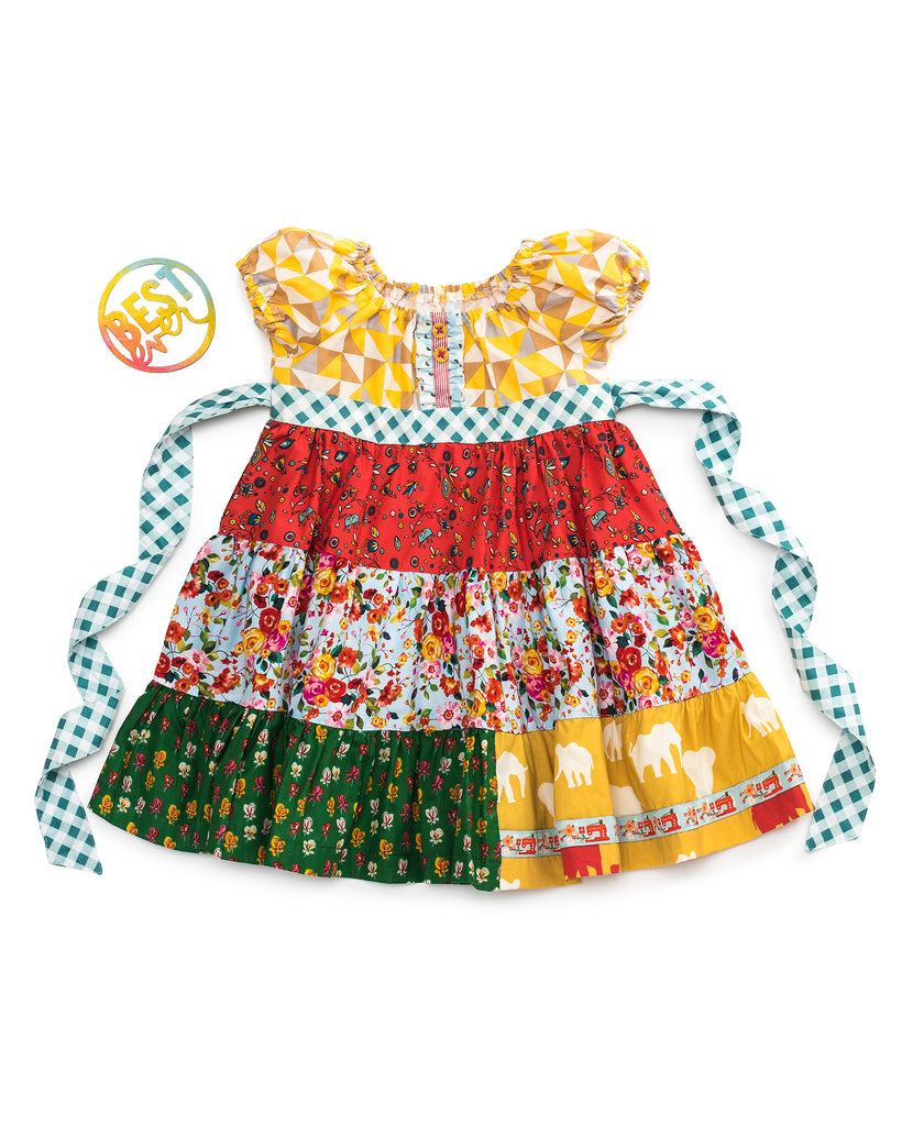 Lottery Tiered Peasant Dress