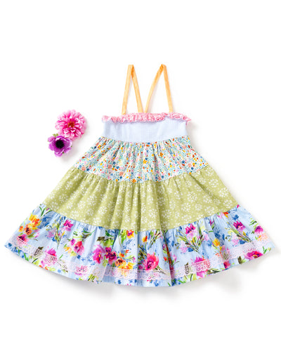 Fruit and Floral Tiered Ellie Dress