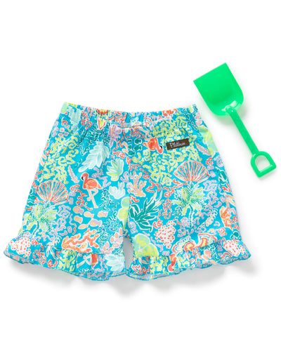 By The Ocean Ruffle Shorties