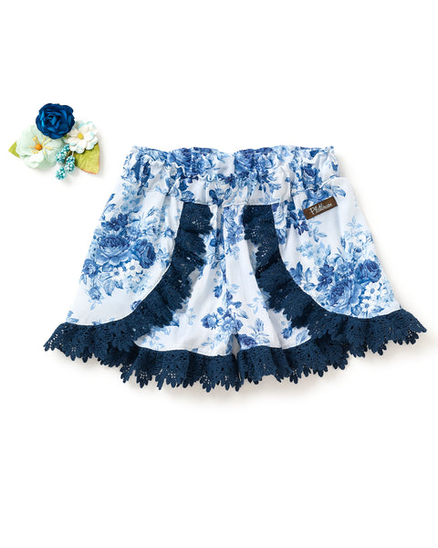 Flowing Floral Woven Shorties