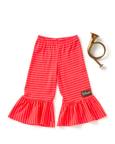 Strawberry Stripe Cropped Big Ruffles