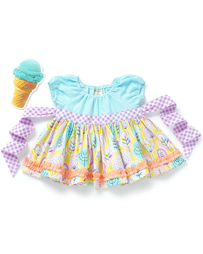 Ice Cream Cake Peasant Top