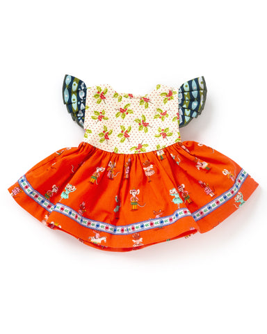 Christmas Eve Doll Dress