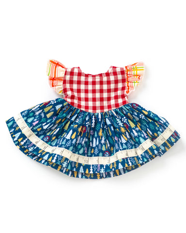 Jolly Snowman Doll Dress