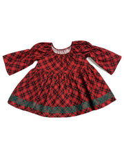 Plaid About You Long Sleeve Peasant Top