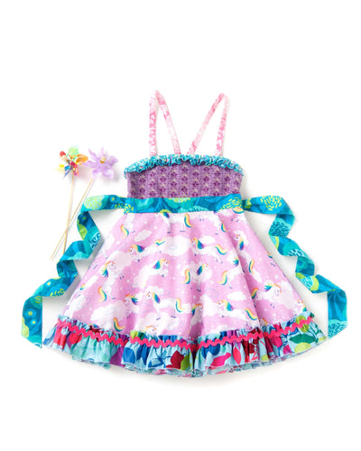 Sparkly Unicorn Ellie Roundabout Dress