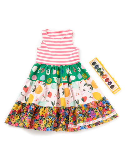 Little Frenchie Tiered Tank Dress
