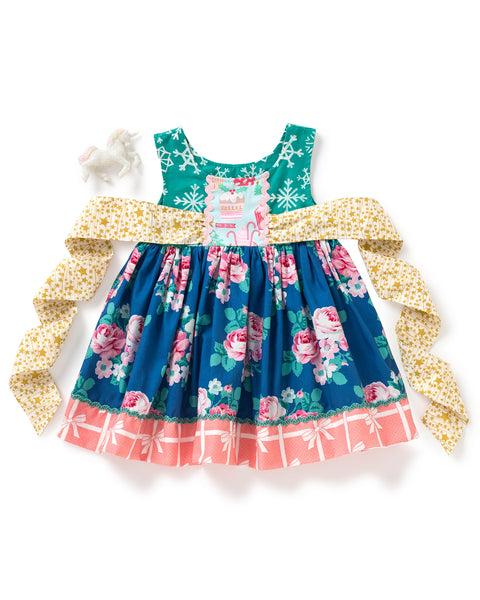 Snowflakes On Roses Shasta Dress