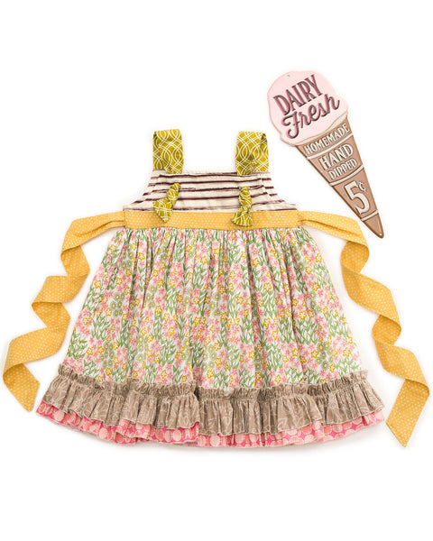 Ruffled Petals Knot Dress