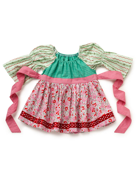 Peppermint Patty Peasant Top