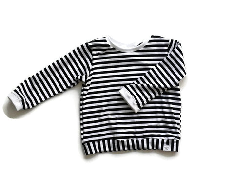 Black & White Stripes Pullover
