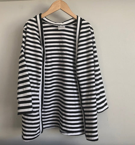 Open Cardigan - Striped