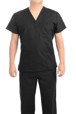Black Medical Scrub Uniform Set - C.F.A Scrubs