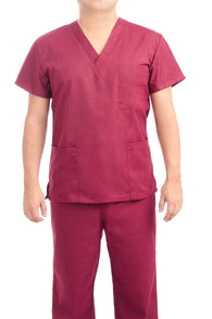 Burgundy Medical Scrub Uniform Set - C.F.A Scrubs