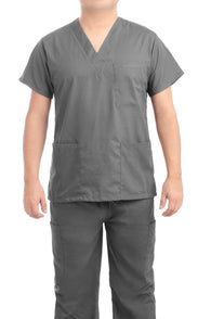 Charcoal Grey Medical Scrub Uniform Set - C.F.A Scrubs