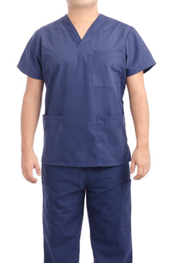 Navy Blue Medical Scrub Uniform Set - C.F.A Scrubs