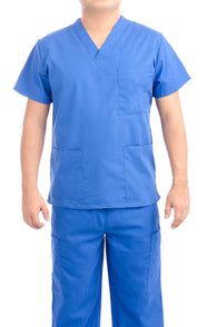 Royal Blue Medical Scrub Uniform Set - C.F.A Scrubs