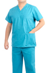Turquoise Medical Scrub Uniform Set - C.F.A Scrubs