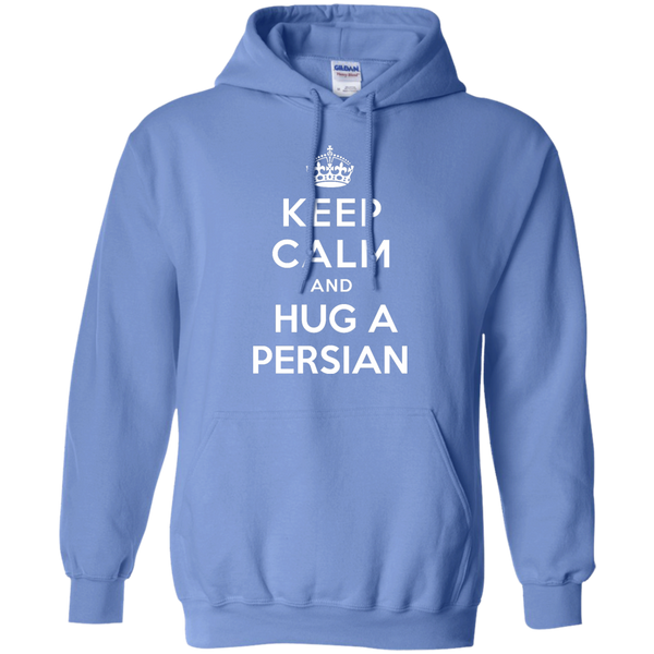 Keep Calm and Hug a Persian Pullover Hoodie - BinXzay