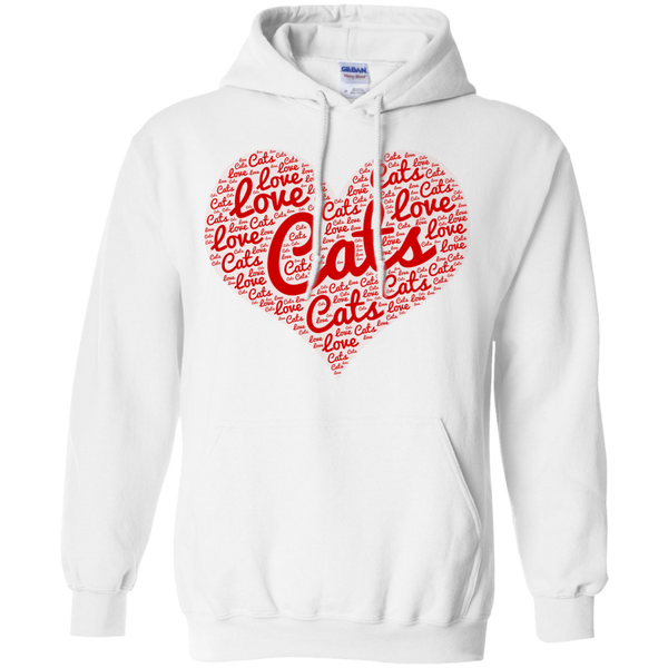 Love Cats Heart Hoodie 8 oz.