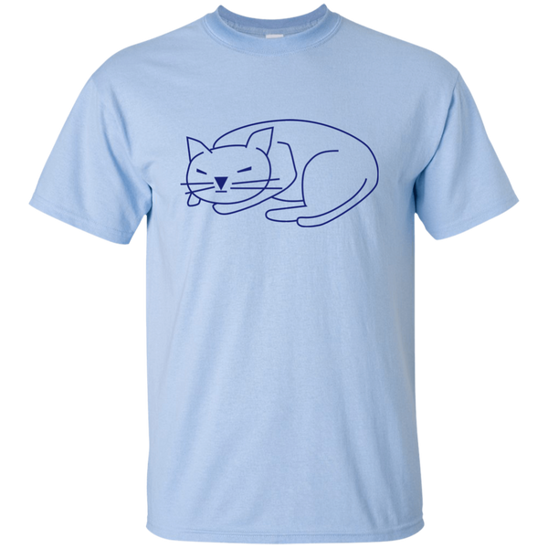 Sleeping Cat Cotton T-Shirt - BinXzay