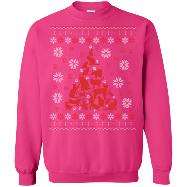 Cat Christmas Tree Unique Cat Ugly Sweatshirt - BinXzay