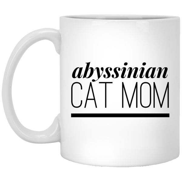 Abyssinian Cat Mom 11 oz. Mug - BinXzay